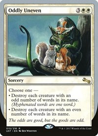Oddly Uneven, Magic: The Gathering, Unstable