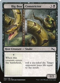 Big Boa Constrictor, Magic: The Gathering, Unstable