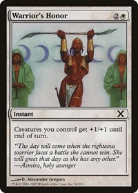 Warrior's Honor, Magic: The Gathering, 10th Edition