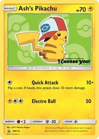 Ash's Pikachu - SM112, Pokemon, SM Promos