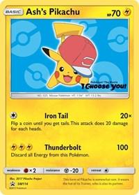 Ash's Pikachu - SM114, Pokemon, SM Promos