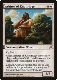 Arbiter of Knollridge, Magic: The Gathering, Lorwyn