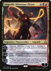 Angrath, Minotaur Pirate, Magic: The Gathering, Rivals of Ixalan