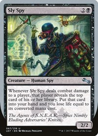 Sly Spy (E), Magic: The Gathering, Unstable