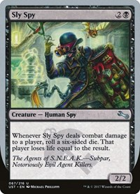 Sly Spy (F), Magic: The Gathering, Unstable