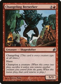 Changeling Berserker, Magic: The Gathering, Lorwyn