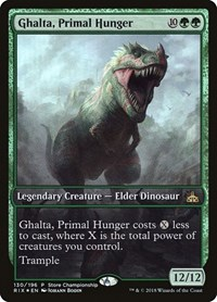 Ghalta, Primal Hunger, Magic: The Gathering, Game Day & Store Championship Promos