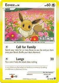 Eevee (Platinum), Pokemon, Burger King Promos