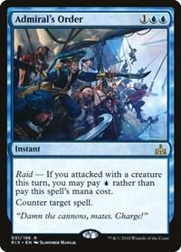 Admiral's Order, Magic: The Gathering, Rivals of Ixalan