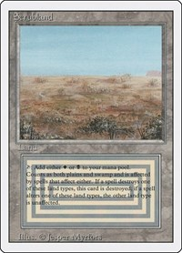 Scrubland, Magic: The Gathering, Revised Edition