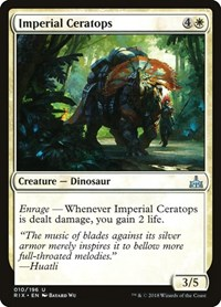 Imperial Ceratops, Magic: The Gathering, Rivals of Ixalan