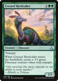 Crested Herdcaller, Magic: The Gathering, Rivals of Ixalan
