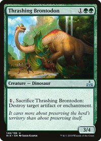 Thrashing Brontodon, Magic: The Gathering, Rivals of Ixalan