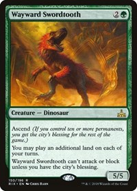 Wayward Swordtooth, Magic: The Gathering, Rivals of Ixalan