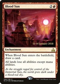 Blood Sun, Magic: The Gathering, Prerelease Cards