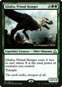 Ghalta, Primal Hunger, Magic: The Gathering, Prerelease Cards