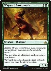 Wayward Swordtooth, Magic: The Gathering, Prerelease Cards