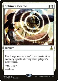 Sphinx's Decree, Magic: The Gathering, Prerelease Cards
