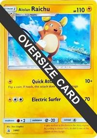 Alolan Raichu SM65 - (SM Black Star Promo), Pokemon, Jumbo Cards