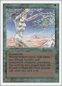 Shanodin Dryads, Magic: The Gathering, Revised Edition