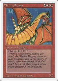 Shivan Dragon, Magic: The Gathering, Revised Edition
