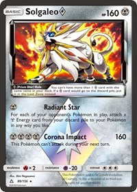 Solgaleo Prism Star, Pokemon, SM - Ultra Prism