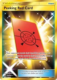 Peeking Red Card (Secret Rare), Pokemon, SM - Ultra Prism