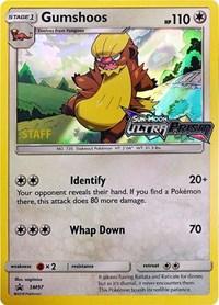 Gumshoos - SM97 (Staff Prerelease Promo), Pokemon, SM Promos