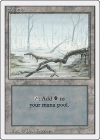 Swamp (A), Magic: The Gathering, Revised Edition