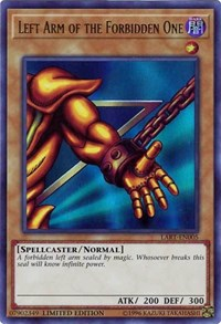 Left Arm of the Forbidden One, YuGiOh, The Lost Art Promotion