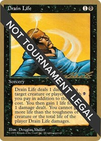 Drain Life - 1996 Leon Lindback (4ED), Magic: The Gathering, World Championship Decks