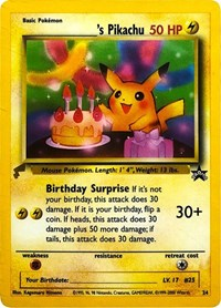Pikachu (Birthday), Pokemon, Pikachu World Collection Promos