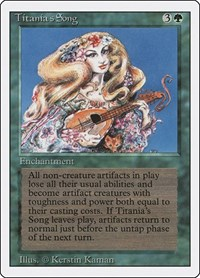 Titania's Song, Magic: The Gathering, Revised Edition