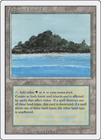 Tropical Island, Magic: The Gathering, Revised Edition
