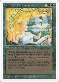 Verduran Enchantress, Magic: The Gathering, Revised Edition