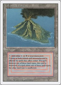 Volcanic Island, Magic, Revised Edition