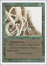 Wall of Brambles, Magic: The Gathering, Revised Edition