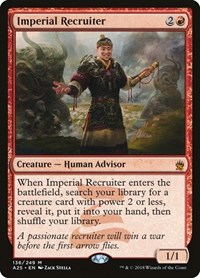 Imperial Recruiter, Magic: The Gathering, Masters 25