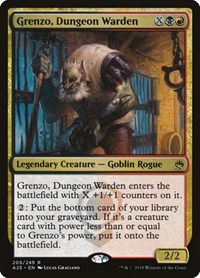 Grenzo, Dungeon Warden, Magic: The Gathering, Masters 25