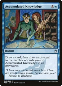 Accumulated Knowledge, Magic: The Gathering, Masters 25
