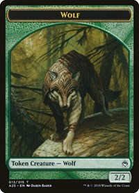 Wolf Token (013), Magic: The Gathering, Masters 25