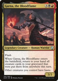 Garna, the Bloodflame, Magic: The Gathering, Dominaria