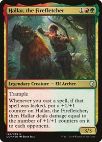 Hallar, the Firefletcher, Magic: The Gathering, Dominaria