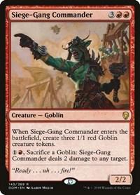 Siege-Gang Commander, Magic: The Gathering, Dominaria