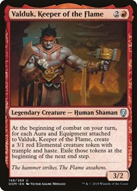 Valduk, Keeper of the Flame, Magic: The Gathering, Dominaria
