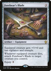 Forebear's Blade, Magic: The Gathering, Dominaria