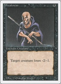 Weakness, Magic: The Gathering, Revised Edition