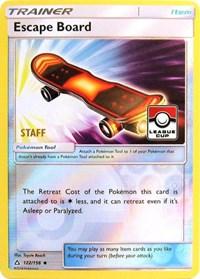 Escape Board - 122/156 (League Promo) [Staff], Pokemon, League & Championship Cards