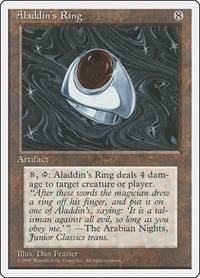 Aladdin's Ring, Magic: The Gathering, Fourth Edition