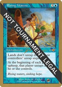 Rising Waters - 2000 Jon Finkel (NMS) (SB), Magic: The Gathering, World Championship Decks